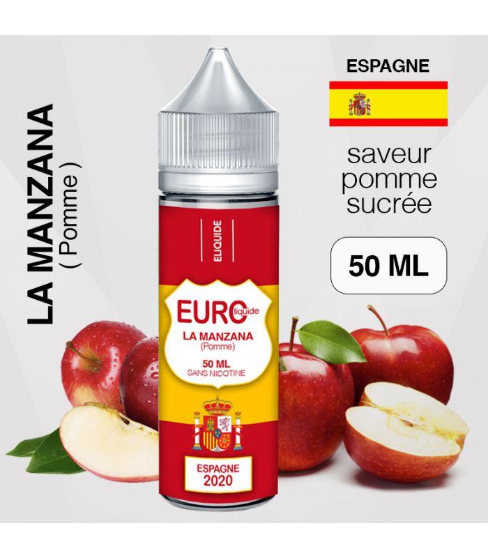 E-liquide EUROLIQUIDE ESPAGNE 50 ml Pomme