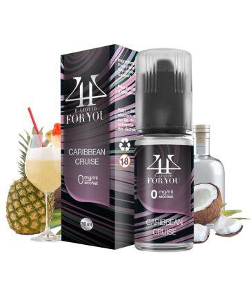 E-liquide arôme Cocktail Rhum, Ananas et Crème de Coco CARIBBEAN CRUISE - 4YOU