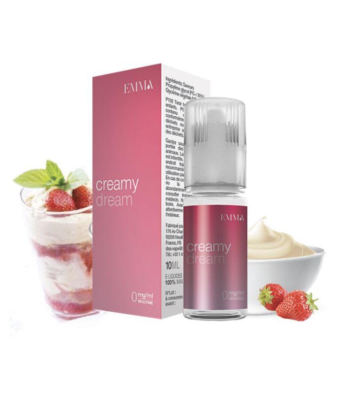 E-liquide Yaourt à la fraise   CREAMY DREAM EMMA
