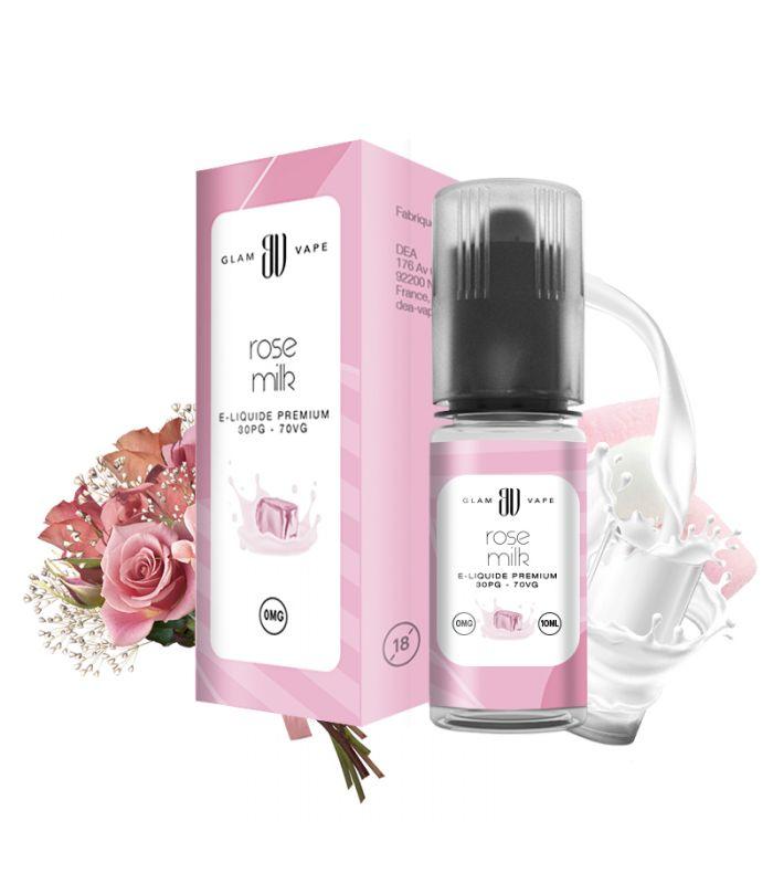E-liquide Lait à l'eau de rose | ROSE MILK - GLAM VAPE