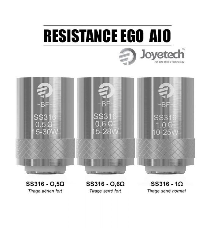 Résistance Joyetech BF SS316 Ego Aio 0.5ohm / 0.6ohm / 1.0ohm (Pack 5pcs)