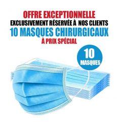 10 MASQUES CHIRURGICAUX
