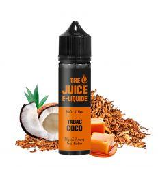 E-Liquide 50 ML TABAC COCO - THE JUICE Tabac, Noix de Coco, Caramel