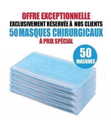 50 MASQUES CHIRURGICAUX TAILLE ENFANT PAS CHER
