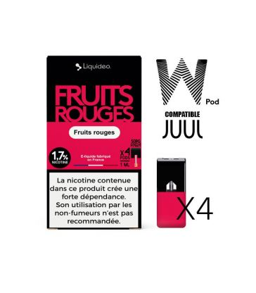 W-pod FRUITS ROUGES Liquideo Pack de 4 POD