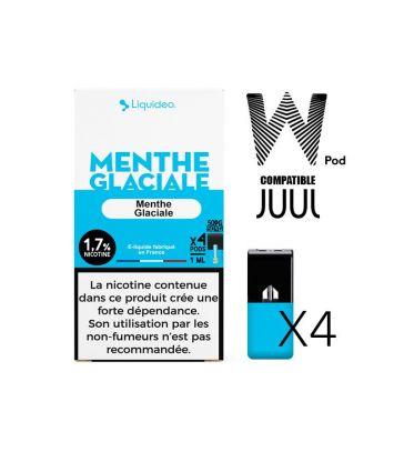 W-pod MENTHE GLACIALE Liquideo Pack de 4 POD