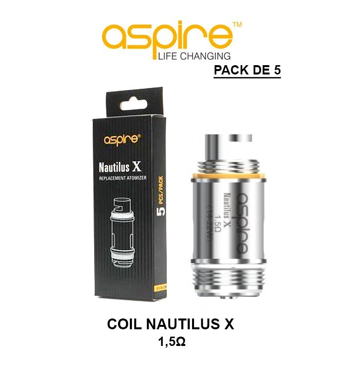 COIL RESISTANCE NAUTILUS X ASPIRE - Pack de 5