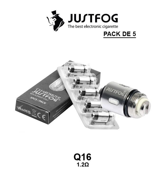 RESISTANCE JUSTFOG COIL Q16 1,2Ω pack de 5