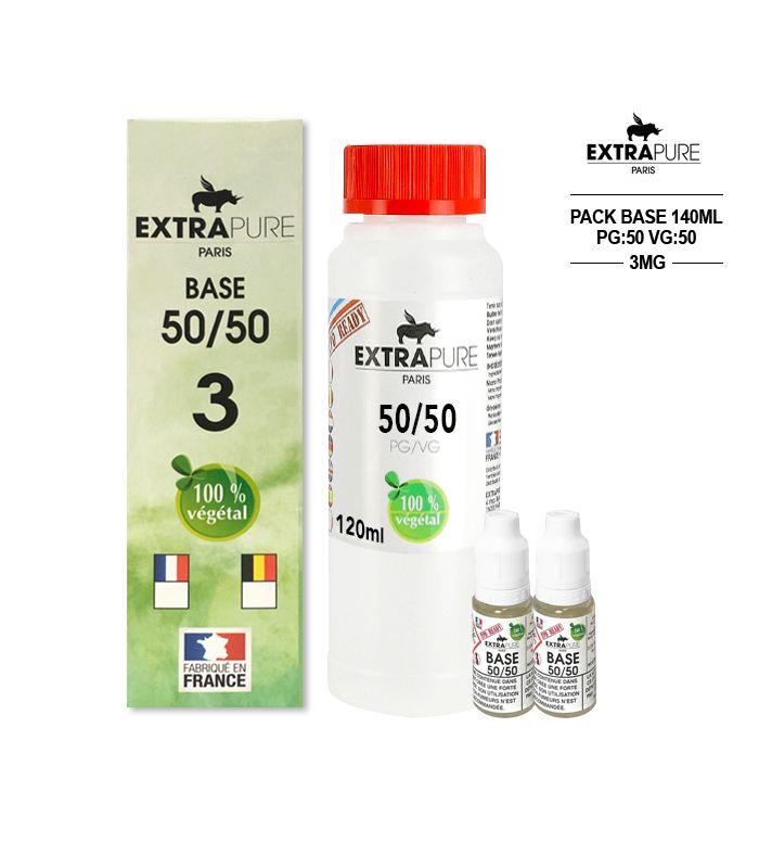 Kit EXTRAPURE Base neutre + Boosters de Nicotine pour E-liquide D.I.Y