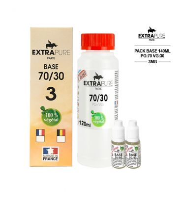 PACK 140ML 70/30 - 3MG - EXTRAPURE