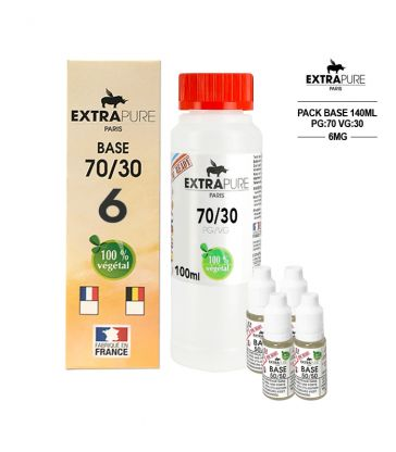 PACK 140ML 70/30 - 6MG - EXTRAPURE