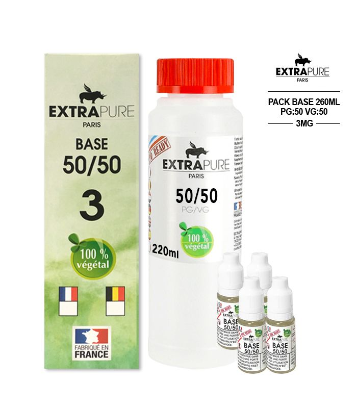 PACK 260ML 50/50 - 3MG - EXTRAPURE