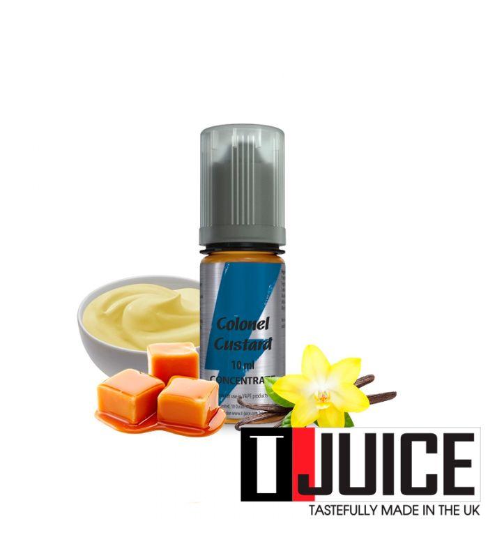 Arôme Concentré D.I.Y Crème Anglaise Vanillée pas cher COLONEL CUSTARD 10ML - TJUICE