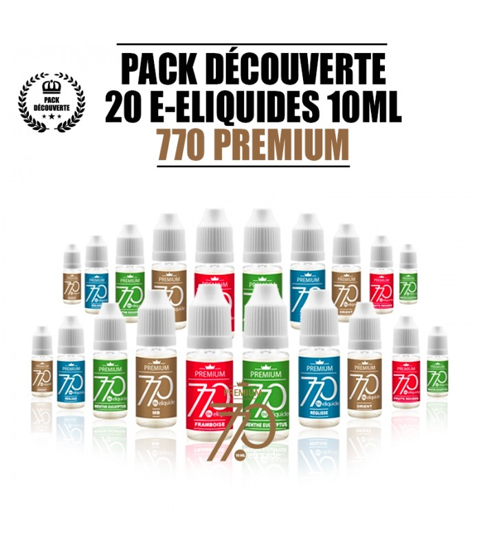 PACK 20 LIQUIDES 770 PREMIUM