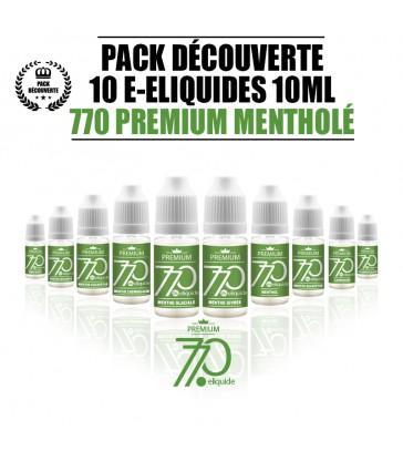 PACK 10 LIQUIDES 770 PREMIUM MENTHOÉ