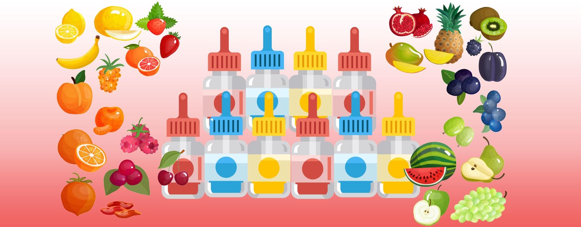 Sélection des 10 meilleurs E-liquides Fruités